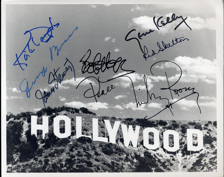 Hollywood Stars - Autographed by Seven